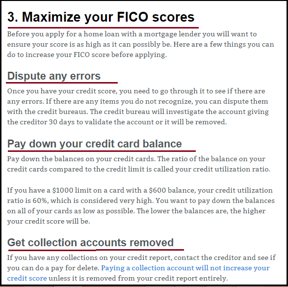 DC Fawcett Real Estate Maximize your FICO